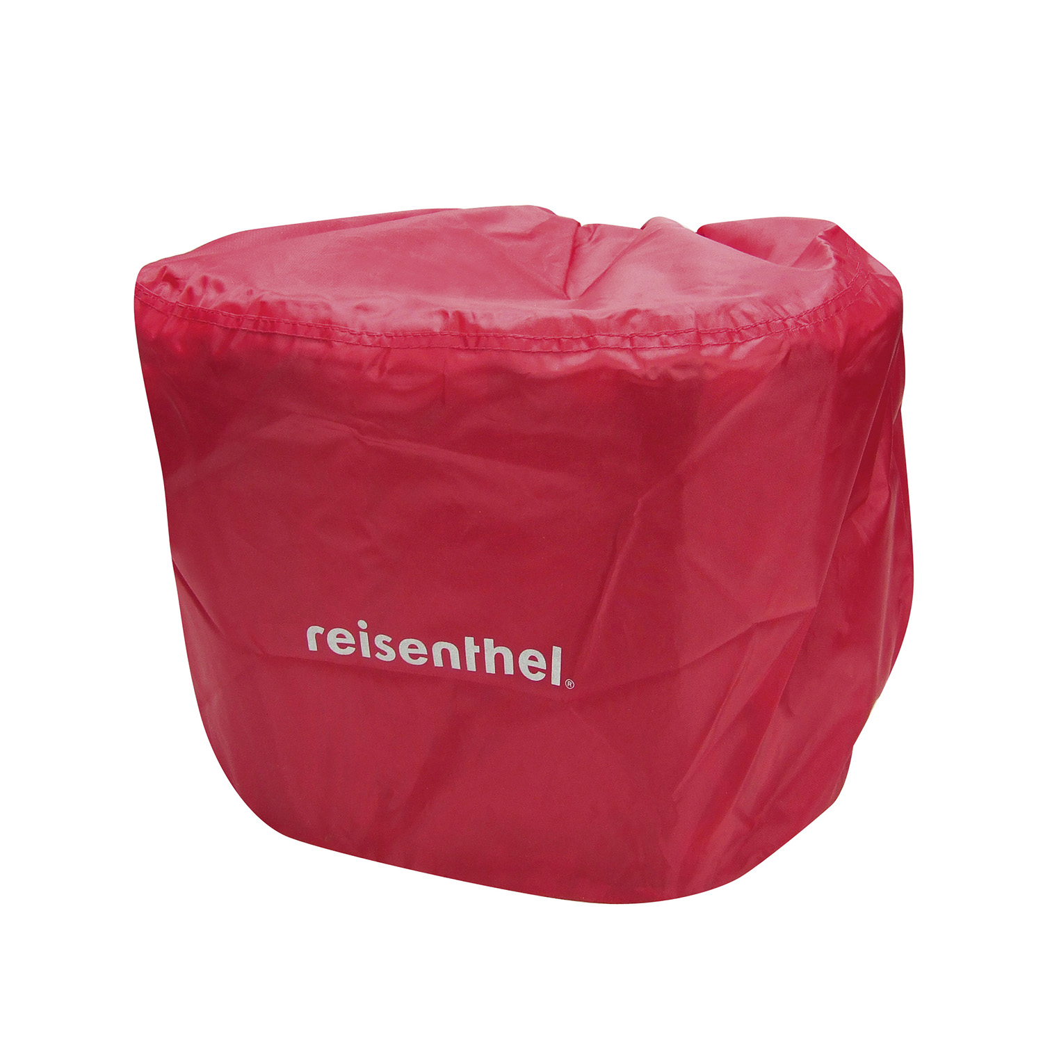 Bikebasket Raincover, red raincover with reflector for Reisenthel bikebaskets