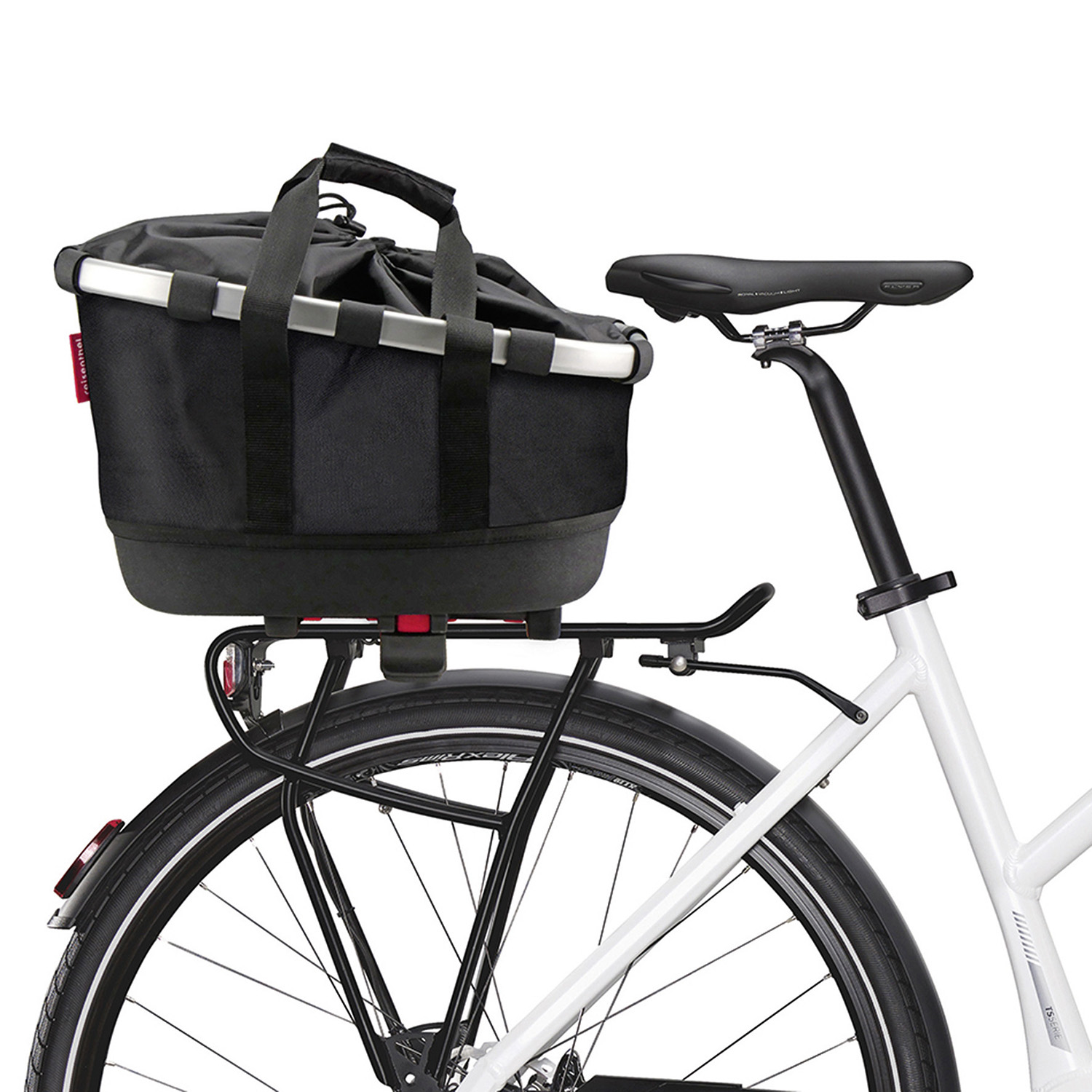 Bikebasket GT, longitudinal textile basket – for any type of carrier