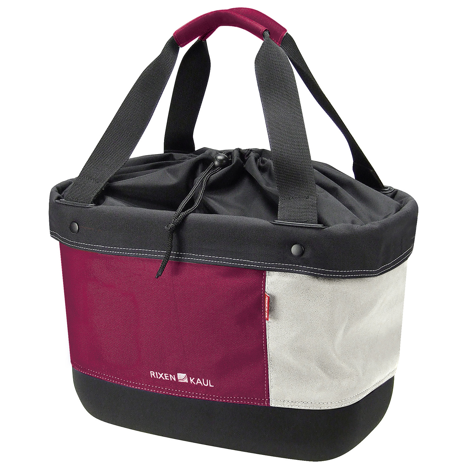 Shopper Alingo, light shopping bag with drawstring closure on Handlebar Adapter